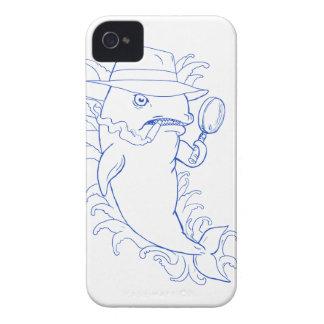 Detektivorca-Mörder-Wal-Zeichnen iPhone 4 Cover