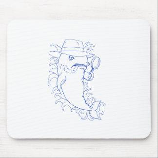 Detektivorca-Mörder-Wal-Zeichnen Mousepad