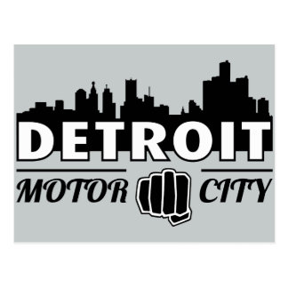 Detroit-Bewegungsstadt-Skyline-Postkarte Postkarte