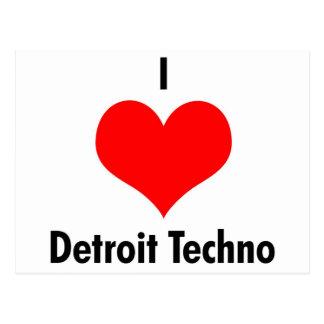 Detroit der Liebe I techno Postkarte