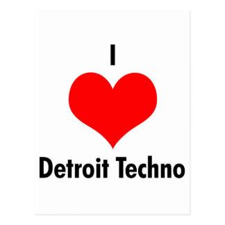 Detroit der Liebe I techno Postkarten