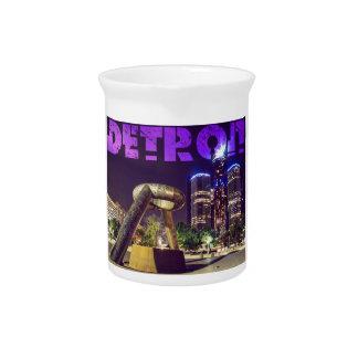 Detroit-Hirsch-Piazza Getränke Pitcher