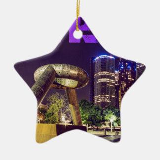 Detroit-Hirsch-Piazza Keramik Ornament