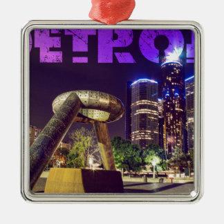 Detroit-Hirsch-Piazza Silbernes Ornament