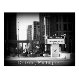 Detroit, Michigan Postkarte