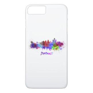 Detroit skyline im Watercolor iPhone 8 Plus/7 Plus Hülle