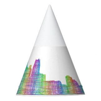 Detroit-Stadt-Skyline Partyhütchen