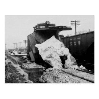 Detroit Toledo u. Ironton Eisenbahn-Schnee-Pflug Postkarte