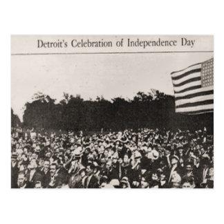 Detroits Feier des Unabhängigkeitstags Postkarte