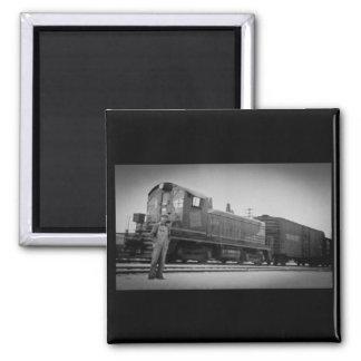 Detroitterminaleisenbahn-DieselMotor 104 Quadratischer Magnet