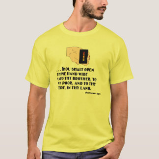 Deuteronomy 15:11 mit der offenen Hand T-Shirt