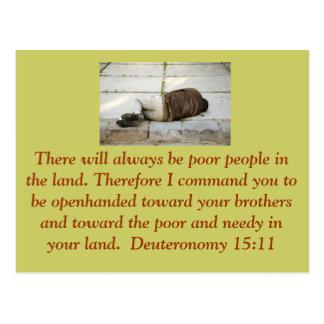 Deuteronomy 15:11 Postkarte