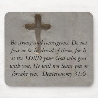 Deuteronomy 31:6 Bibel-Verse über Mut Mousepad