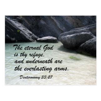 Deuteronomy 33:27 postkarte