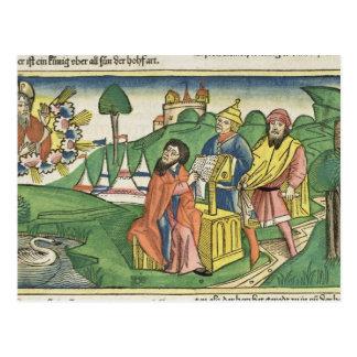 Deuteronomy: Frontispiz, in dem Gott das L macht Postkarte
