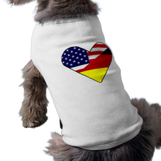 Deutsch - Amerikaner Ärmelfreies Hunde-Shirt