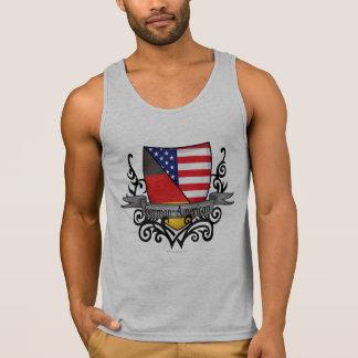Deutsch-Amerikanische Schild-Flagge Tank Top