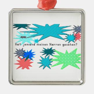 Deutsch - Dummkopf Silbernes Ornament