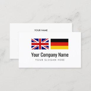 Englisch Flagge Visitenkarten Zazzle De