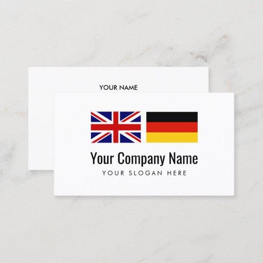 Deutsch Englischer übersetzer Der Visitenkarte Zazzle De