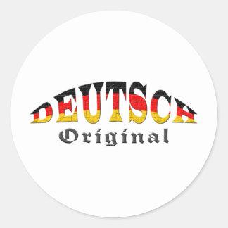 Deutsch - Original Runder Aufkleber