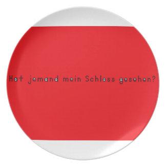 Deutsch - Schloss Teller
