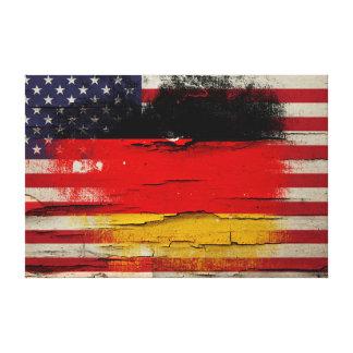 Deutsche amerikanische Flagge der Galerie Faltleinwand