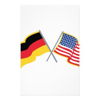 Deutsche amerikanische Flaggen Briefpapier