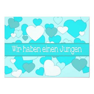 Deutsche Baby-Geburts-Mitteilung 12,7 X 17,8 Cm Einladungskarte