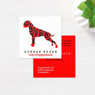 Deutsche Boxer-Visitenkarten Quadratische Visitenkarte
