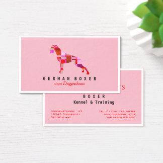 Deutsche Boxer-Visitenkarten Visitenkarte
