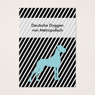 Deutsche Dogge Businescards Jumbo-Visitenkarten