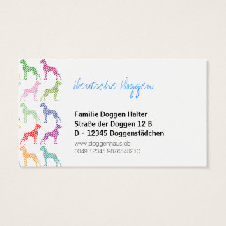Deutsche Dogge Businesscards Visitenkarten