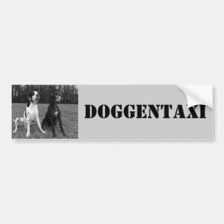 Deutsche Dogge, Great Dane,Harlekin,Taxi,Aufkleber Autoaufkleber