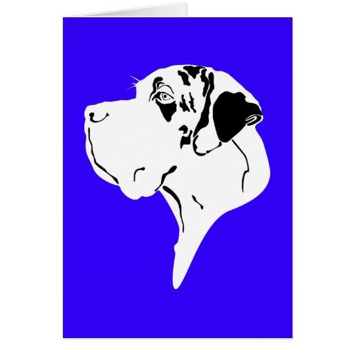 Deutsche Dogge großes Hauptmerle Grußkarten