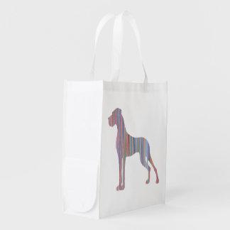 Deutsche Dogge in den Pastellfarben Einkaufsbeutel