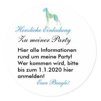 Deutsche Dogge Minimalistisch Quadratische 13,3 Cm Einladungskarte