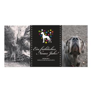 Deutsche Dogge-Saisonkarten Individuelle Foto Karte
