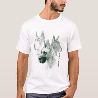 Deutsche Dogge SmaragdDuotone Kunst T-Shirt