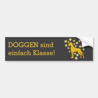 Deutsche Dogge Starheart Autoaufkleber