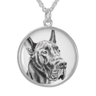 Deutsche Dogge Sterling Silberkette