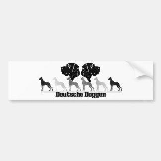 Deutsche Doggen Aufkleber Autoaufkleber