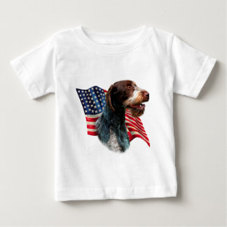 Deutsche Drahthaar-Zeiger-Flagge Baby T-shirt