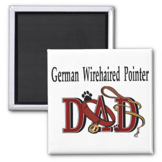 Deutsche Drahthaar-Zeiger-Vati-Geschenke Quadratischer Magnet