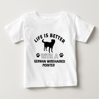 Deutsche Drahthaar-Zeigerentwürfe Baby T-shirt