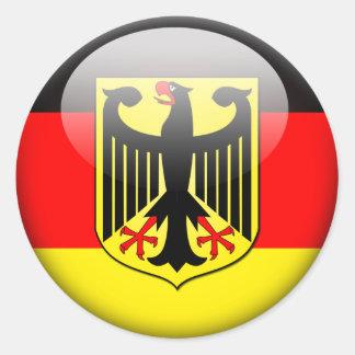 Deutsche Flagge 2,0 Runder Aufkleber
