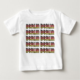 Deutsche Flagge Berlins Deutschland färbt Baby T-shirt