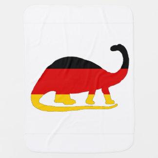 Deutsche Flagge - Brontosaurus Babydecke
