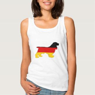 Deutsche Flagge - Cocker spaniel Tank Top