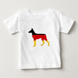Deutsche Flagge - Dobermann Pinscher Baby T-shirt